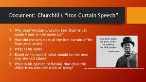 Winston Churchill Iron Curtain Speech Ch 21 East Versus West A Global Divide And A Cold War Ppt Download