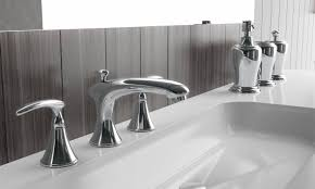 Bathroom Counter Accessories by Bathroom Countertop Accessories Sets Savedbathroom Canisters