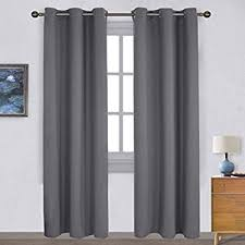 Window Curtains Blackout Window Curtain 2 Panels Grommets Top Drapes