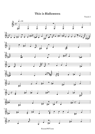 halloween sheet music trumpet u2013 festival collections