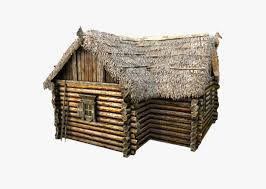 3d model wooden thatch house t shaped cgtrader