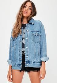 blue oversized denim jacket missguided