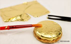 where to buy edible gold leaf gold leaf macarons mini munchie