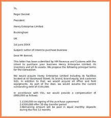 sample letter of intent to purchase business letter of intent to