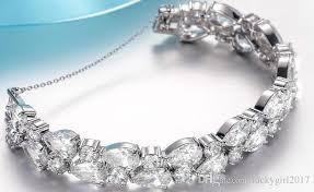 diamond bracelet women images 2018 luxury charm diamond bracelet trendy rose gold plated jpg