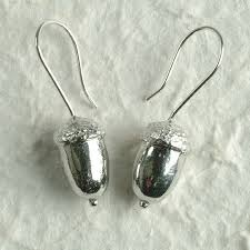 earrings uk acorn drop earrings uk handmade pewter jewellery gift