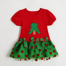 red green christmas tree girls christmas dress baby infant newborn