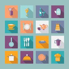 articles de cuisine ensemble d icône d articles de cuisine d articles de cuisine
