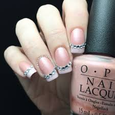 pink nail designs with rhinestones best nail 2017 wendys delights