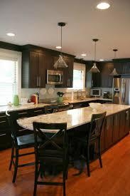 marble countertops long narrow kitchen island lighting flooring