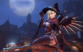halloween changing background overwatch players calling for a tweak to mercy u0027s halloween skin