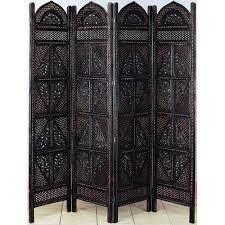 woodland imports 72 u0027 u0027 x 80 u0027 u0027 wooden 4 panel room divider walmart com