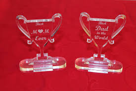 personalised mothers day decoration worlds best mom trophy