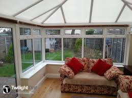 Temporary Window Protection Film Conservatory Inside View Of Side Glass Panes With Light Tinted Uv