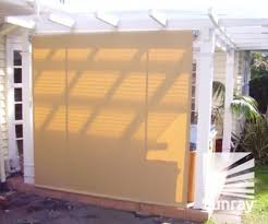 Drop Down Blinds Bannette Drop Arm Awnings Sunray Awnings And Blinds