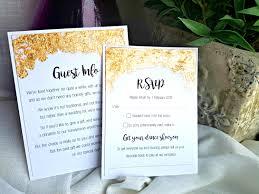 wedding invitation inserts gold flake wedding invitation inserts ruby doll wedding stationery