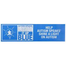 autism speaks light it up blue light it up blue bumper magnet autism speaks