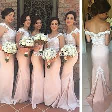 blush bridesmaid dress aliexpress buy blush light pink bridesmaid dresses with lace