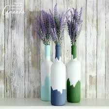 wine bottles painted wine bottles an easy upcycled wine bottle craft