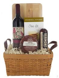 wine and cheese basket vermont river bed wine maple smoked cheddar cheese and