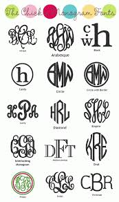 monogrammed fonts monogram fonts for your paper projects can t wait to use these