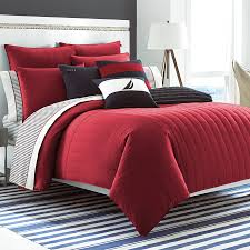 Polyester Microfiber Comforter Minimalist Rectangle Red White And Black Polyester Geometric