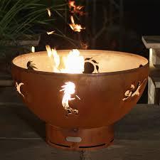 36 Fire Pit by Pit Art Kokopelli Gas Burning 36