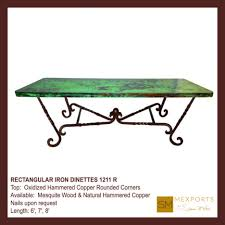 Copper Dining Room Tables by Dining Tables Copper Top Dining Table Dining Tabless