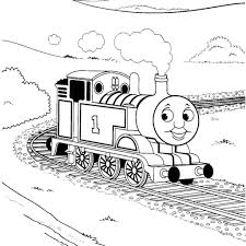 thomas the tank engine coloring pages free printable in train