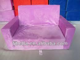 flip out sofa bed kids children flip out large sofa foam bed blue green grey