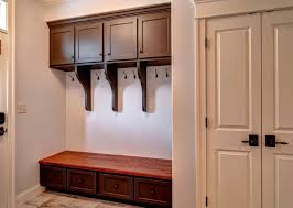 Hampton Bay Cabinets Traditional Mud Room With Crown Molding U0026 Built In Bookshelf In
