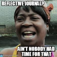 Meme Journal - reflective journal sweet brown meme on memegen