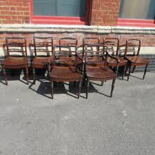 Antique Regency Dining Chairs Eight Antique Regency Rope Back Dining Chairs Antiques Atlas