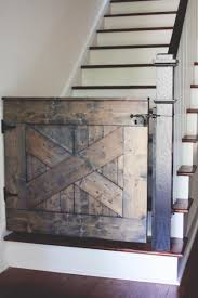 Child Gates For Stairs Rustic Wood Diy Baby Gates For Stairs Home Inspiring