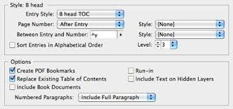 create a table of contents in indesign creativepro com