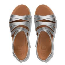 fitflop lumy leather gladiator sandals silverfitflop official