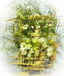 composition florale mariage décoration pour un mariage bucolique réalisée avec de vraies