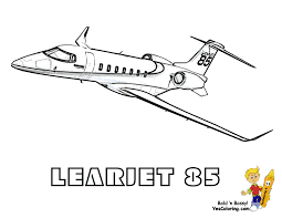 big money airplane coloring page of learjet 85 you can print