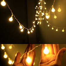 two tone mini christmas lights amazon com dailyart globe string light led starry light fairy light