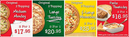family pizza always 2 for 1 and free delivery saskatoon