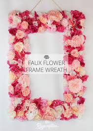 easy faux flower frame wreath