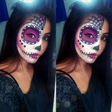 easy face makeup for halloween easy sugar skull halloween tutorial youtube