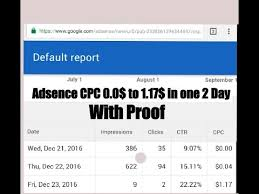 adsense cpc adsense cpc increase 0 0 to 1 17 in 2 days with proof youtube