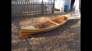 cedar strip canoe build youtube