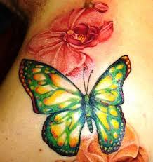 butterfly and orchid tattoos on back insigniatattoo com