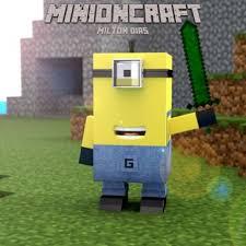 Despicable Meme - despicable me minion joins the minecraft world graphic meme