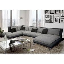 canapé d angle en u canapé d angle en u cayen gris et noir déco canapes