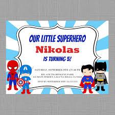 Superhero Invitation Card Superhero Birthday Invitationsuperhero Invitation Spiderman