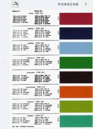 Porsche 911 Interior Color Codes Auto Paint Codes Help Translate From German Paint Code For