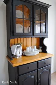 rustic maple oak buffet and hutch with fusion mineral paint in
